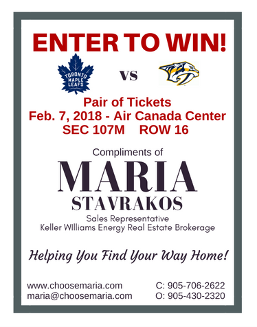 Pair of Maple Leaf Tickets Draw